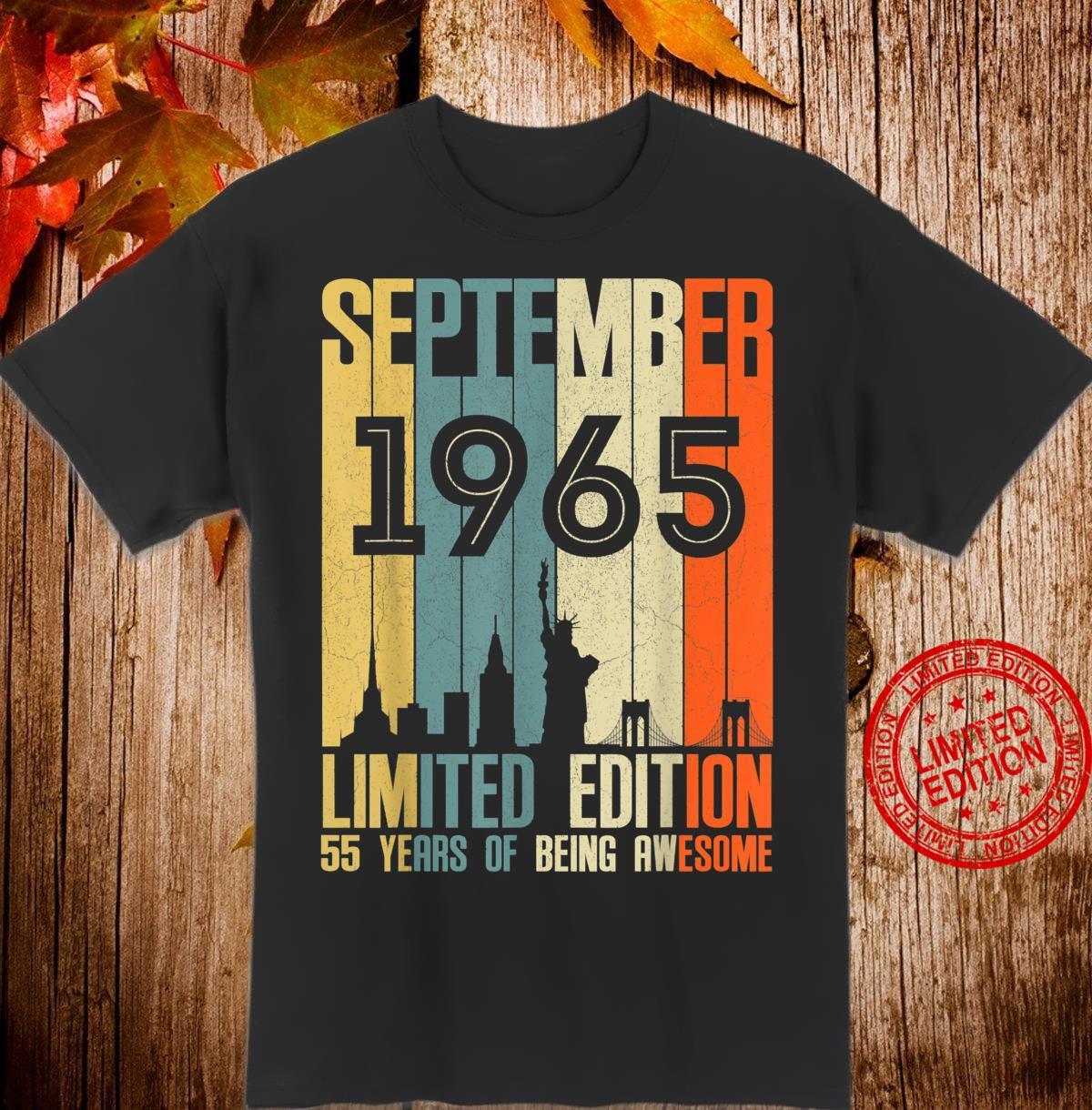 September 1965 55 Year Old Shirt 1965 Birthday Shirt