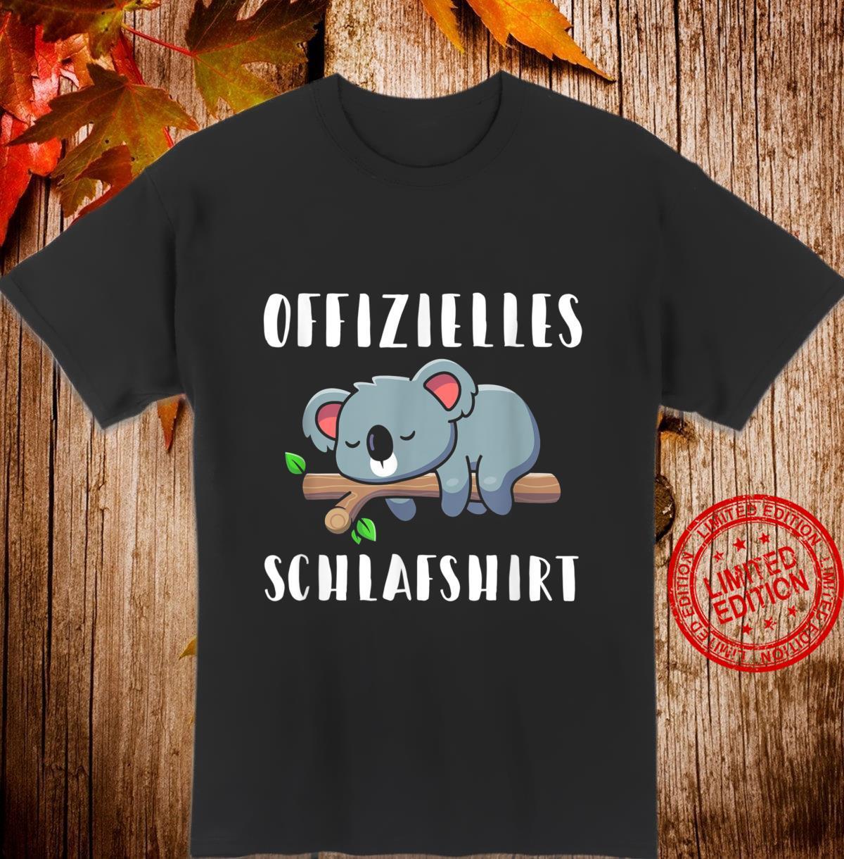 Süßes Koala Koalabär Offizielles Schlafshirt Shirt