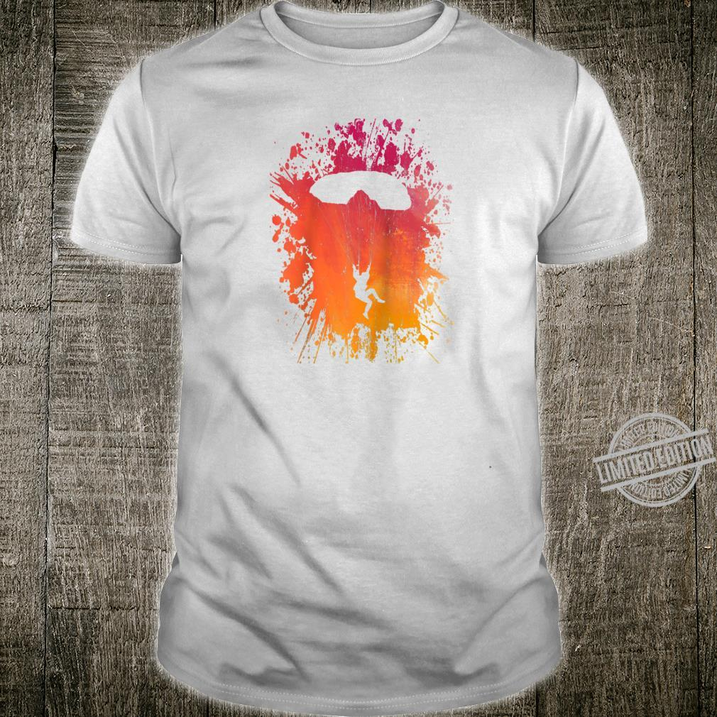 Skydiving Parachuting Skydiver Extreme Sports Paint Splatter Shirt