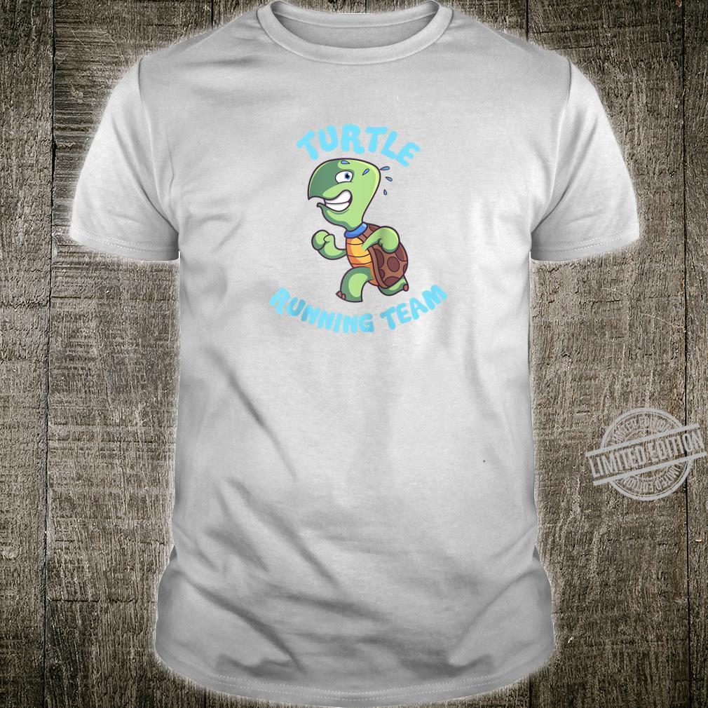Slow Runner Runnings Cute Turtle Running Team Shirt