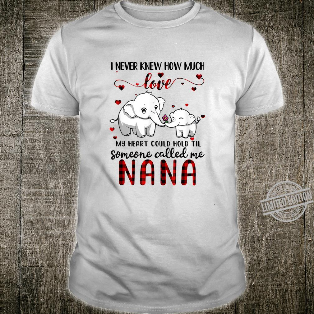 Someone Called Me Nana Elephant Red Plaid Mother's Day Shirt