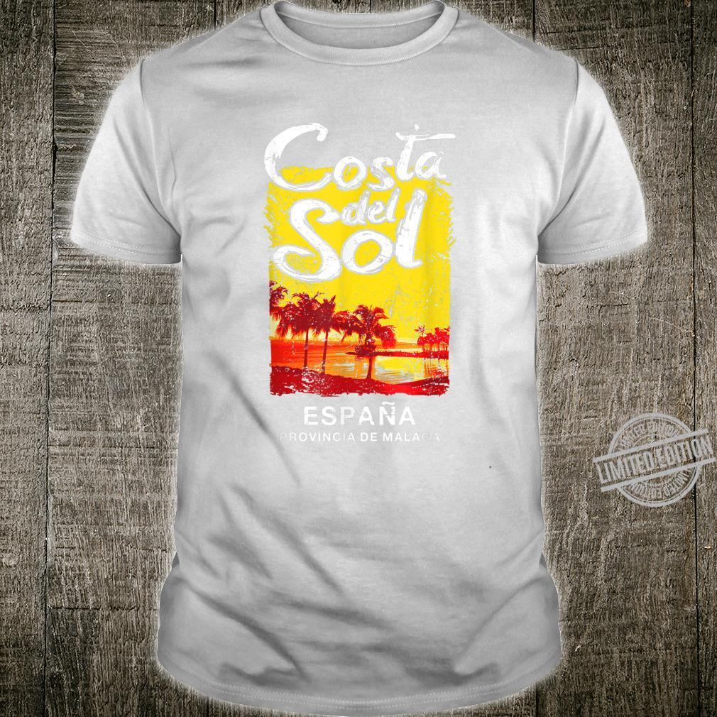 Spain Costa Del Sol Malaga Vintage ESPANA Retro Shirt