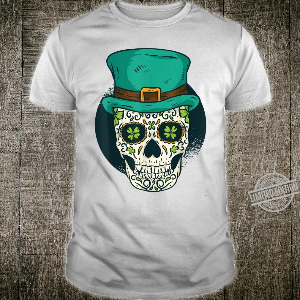 St Patrick's Day Skull with Shamrock Eyes For Saint Paddys Shirt