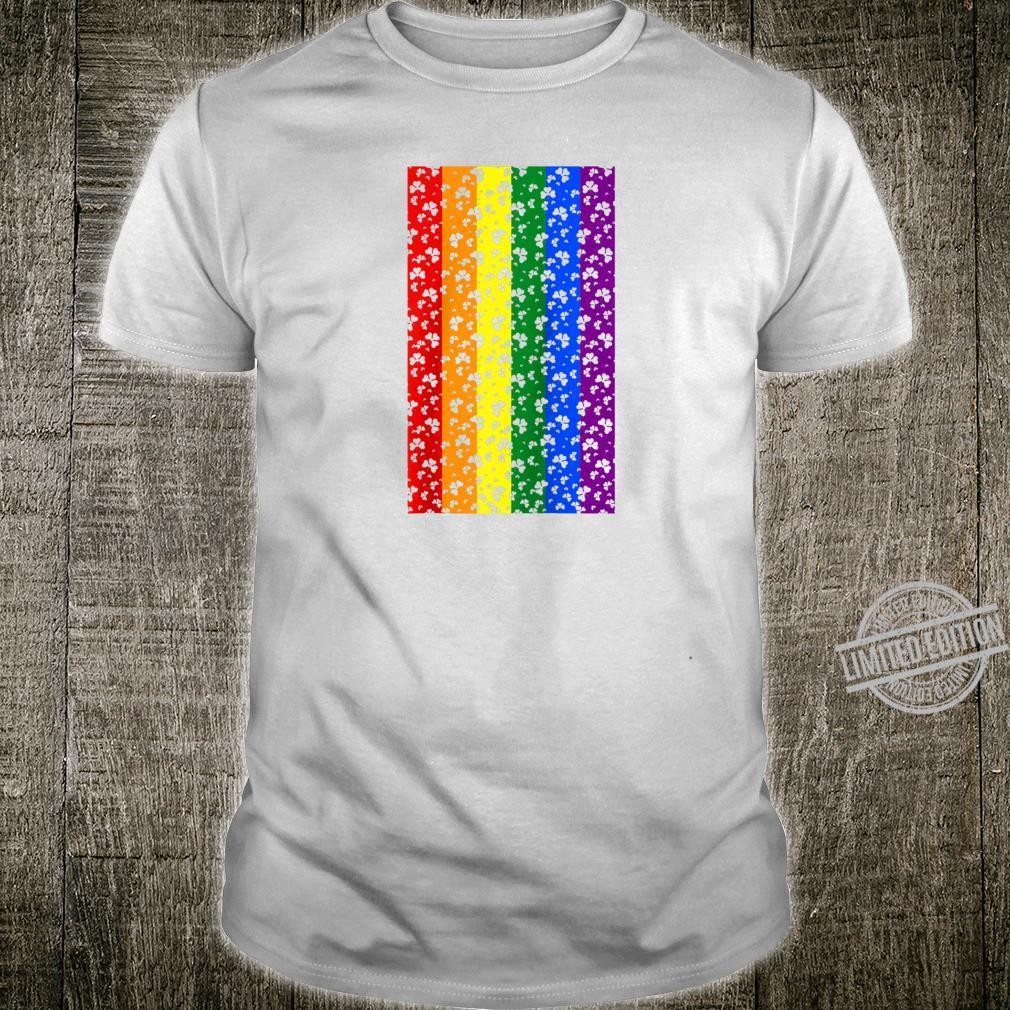 St. Patrick's Clovers Rainbow Flag Gay Lesbian LGTB Pride Shirt
