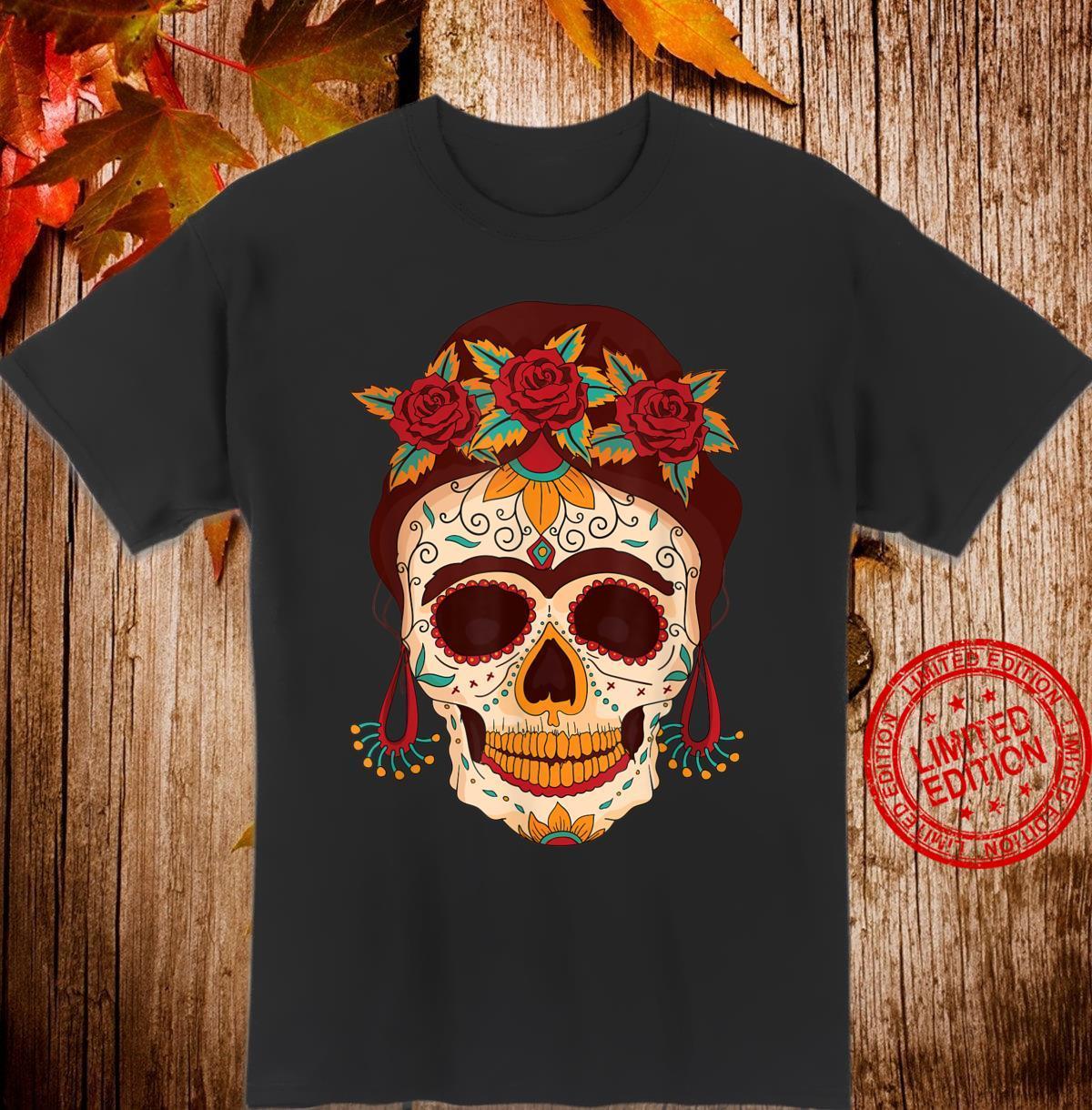 Sugar Skull The Day of The Dead Floral skull Shirt