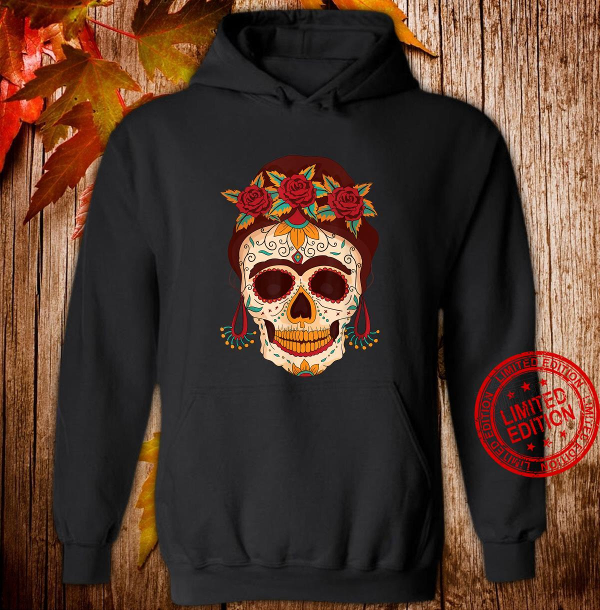 Sugar Skull The Day of The Dead Floral skull Shirt hoodie