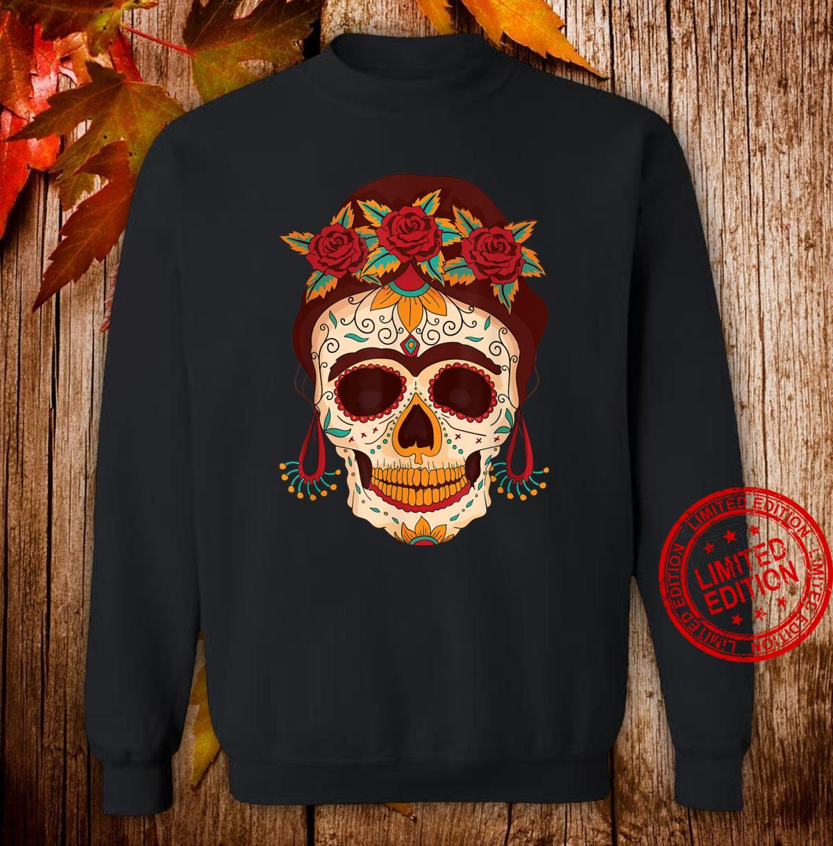 Sugar Skull The Day of The Dead Floral skull Shirt sweater