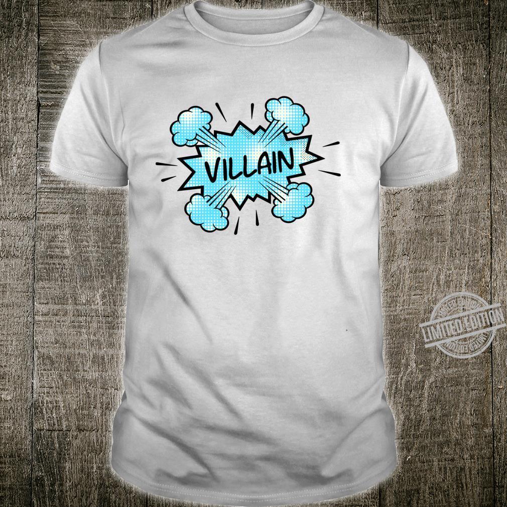 Super Villain Comic Book Super Hero Novel Shirt