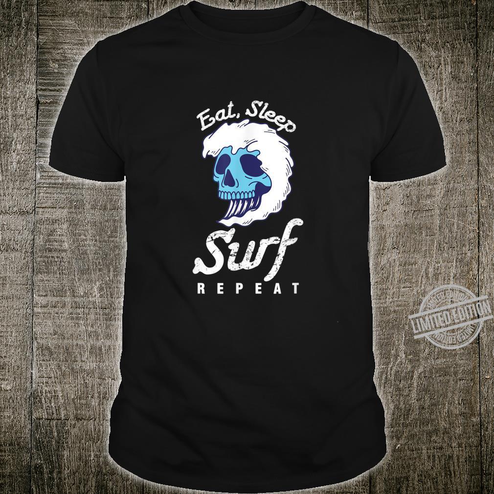 Surfer Wassersport Hobby Essen Schlafen Surfen Wiederholen Shirt