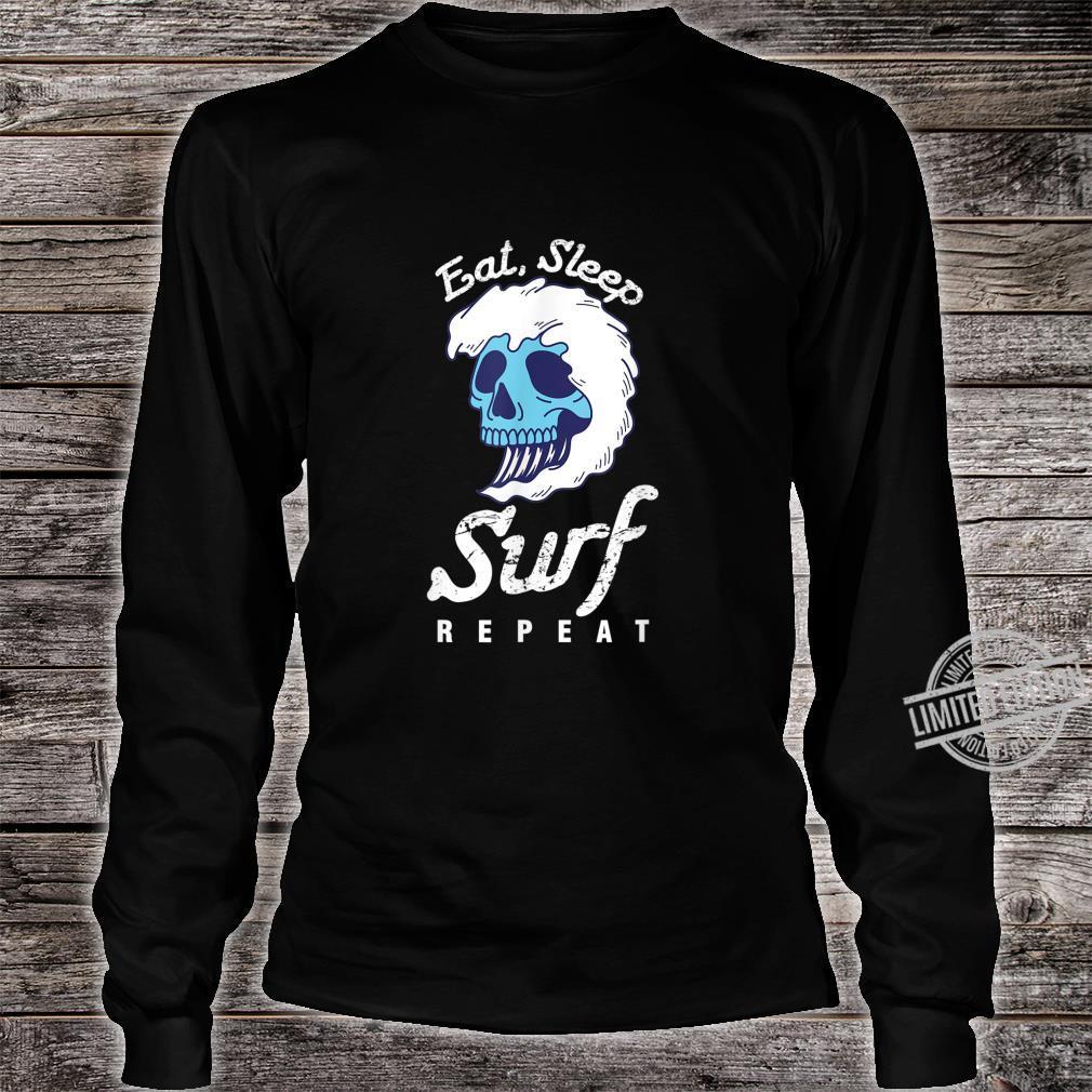 Surfer Wassersport Hobby Essen Schlafen Surfen Wiederholen Shirt long sleeved
