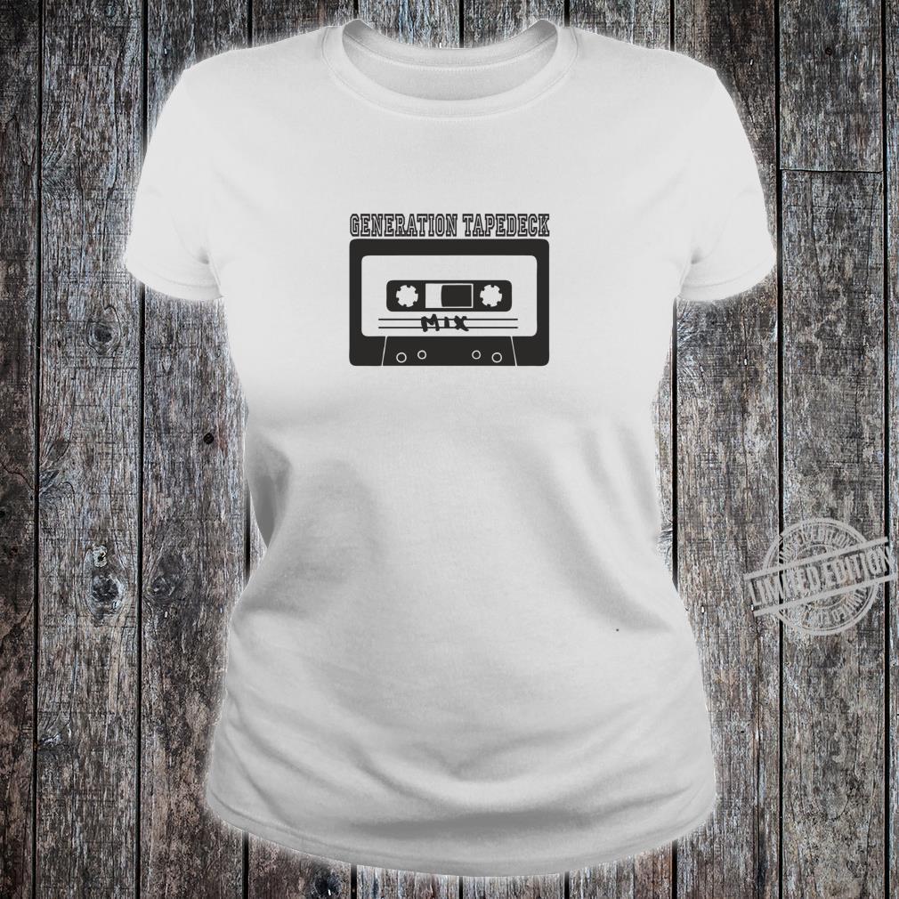 Tapedeck Music 80er Tape Ghettoblaster Boombox 90er Mix Fun Shirt ladies tee