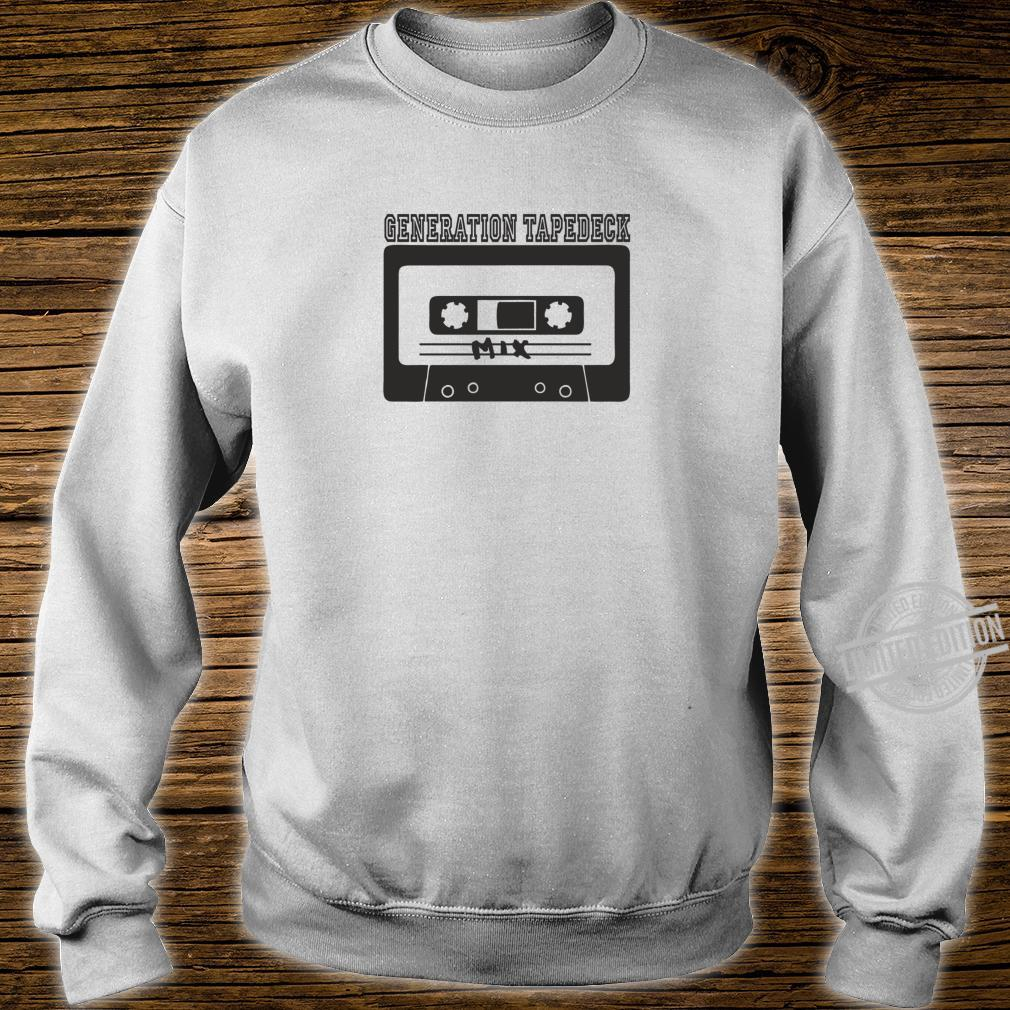Tapedeck Music 80er Tape Ghettoblaster Boombox 90er Mix Fun Shirt sweater