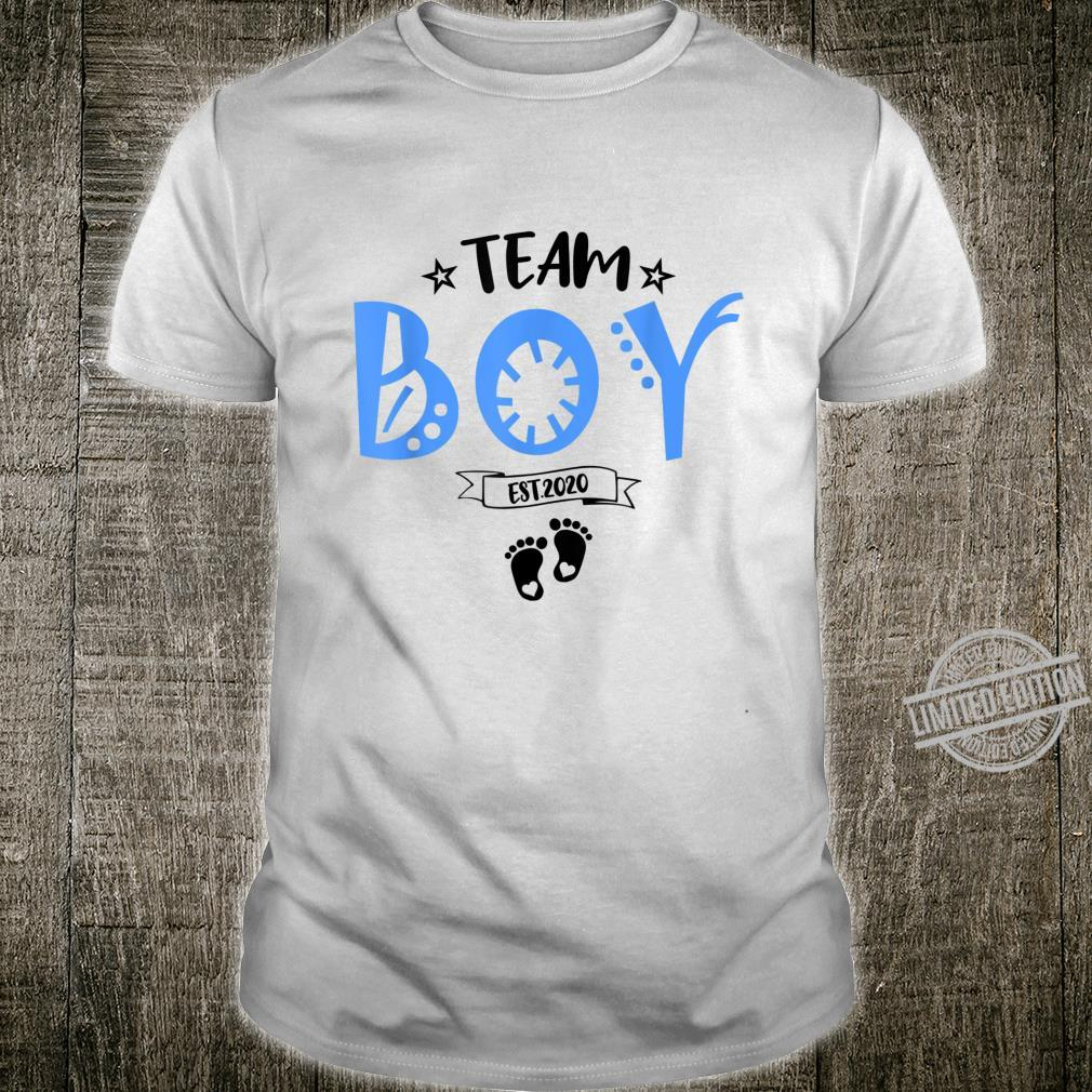 TeamBoy Est.2020 for Gender Reveal Baby Shower Party Shirt