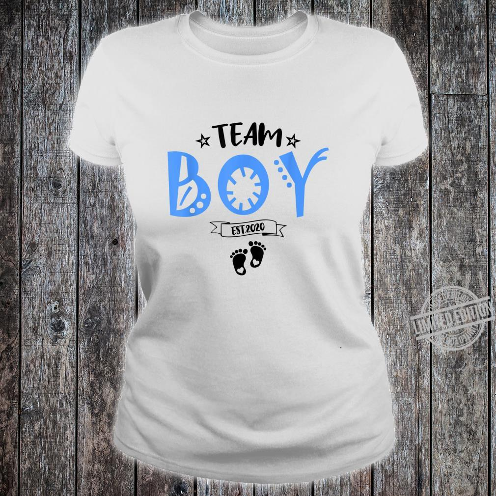 TeamBoy Est.2020 for Gender Reveal Baby Shower Party Shirt ladies tee