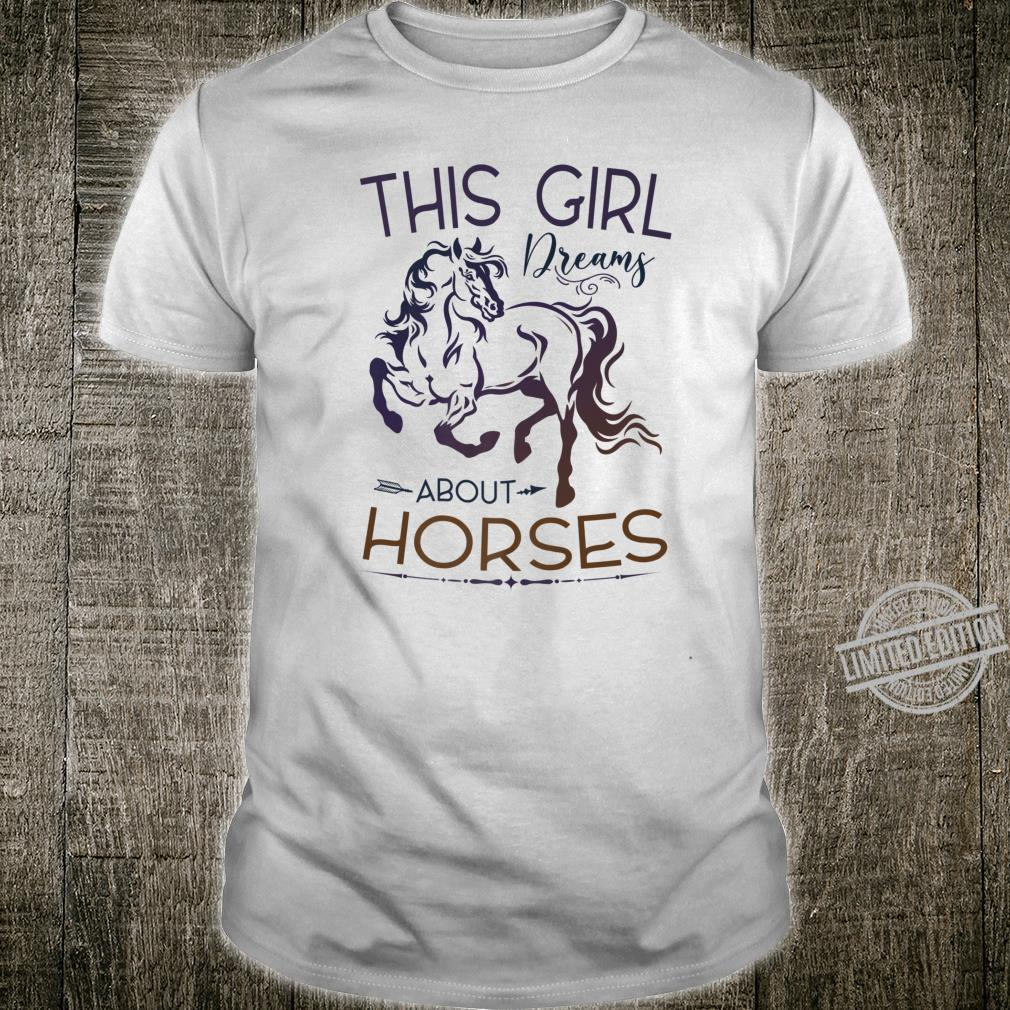 This Girl Dreams About Horses Cute Horse Girl's Shirt