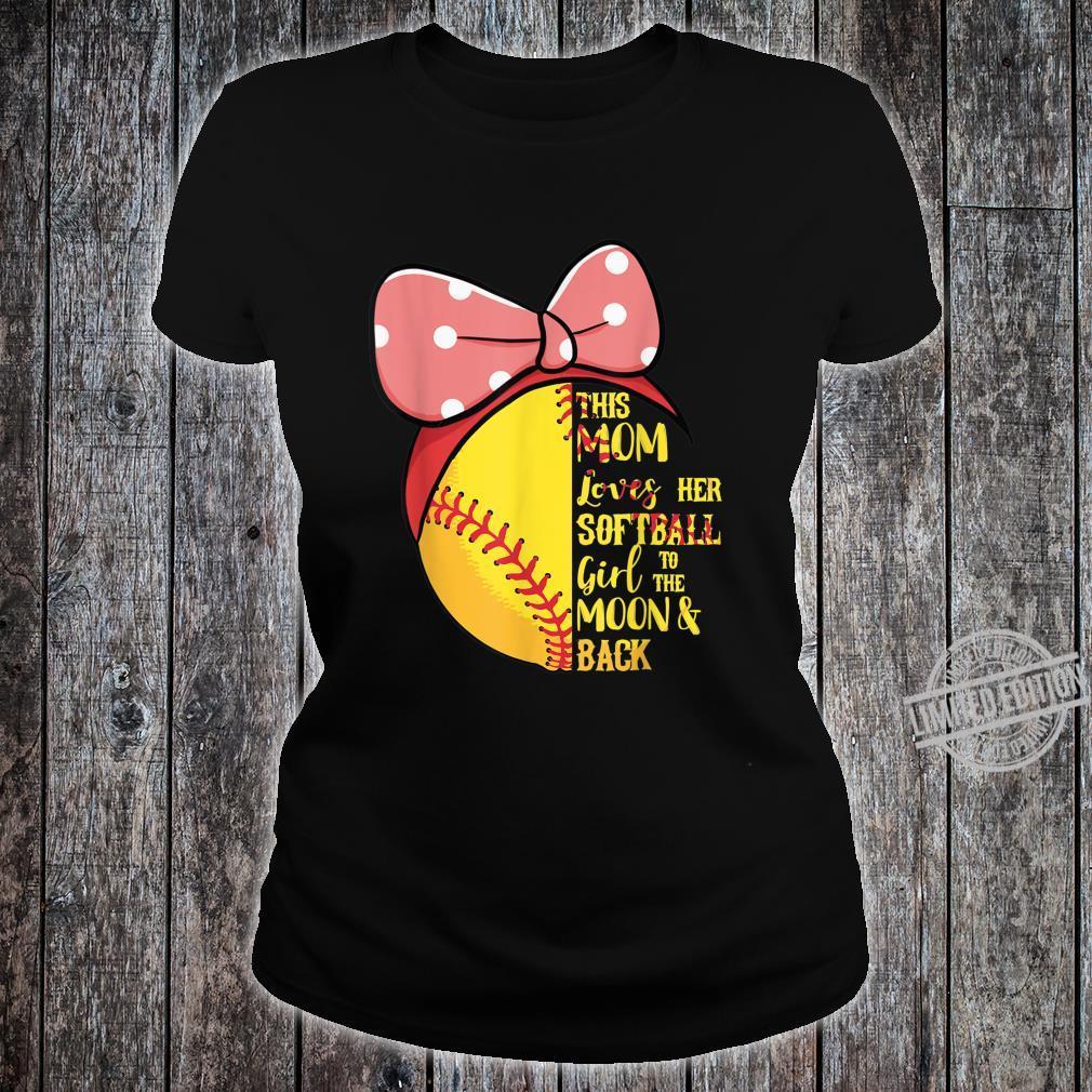 This Mom Loves Her Softball Girl Bandana Passion Sport Shirt ladies tee