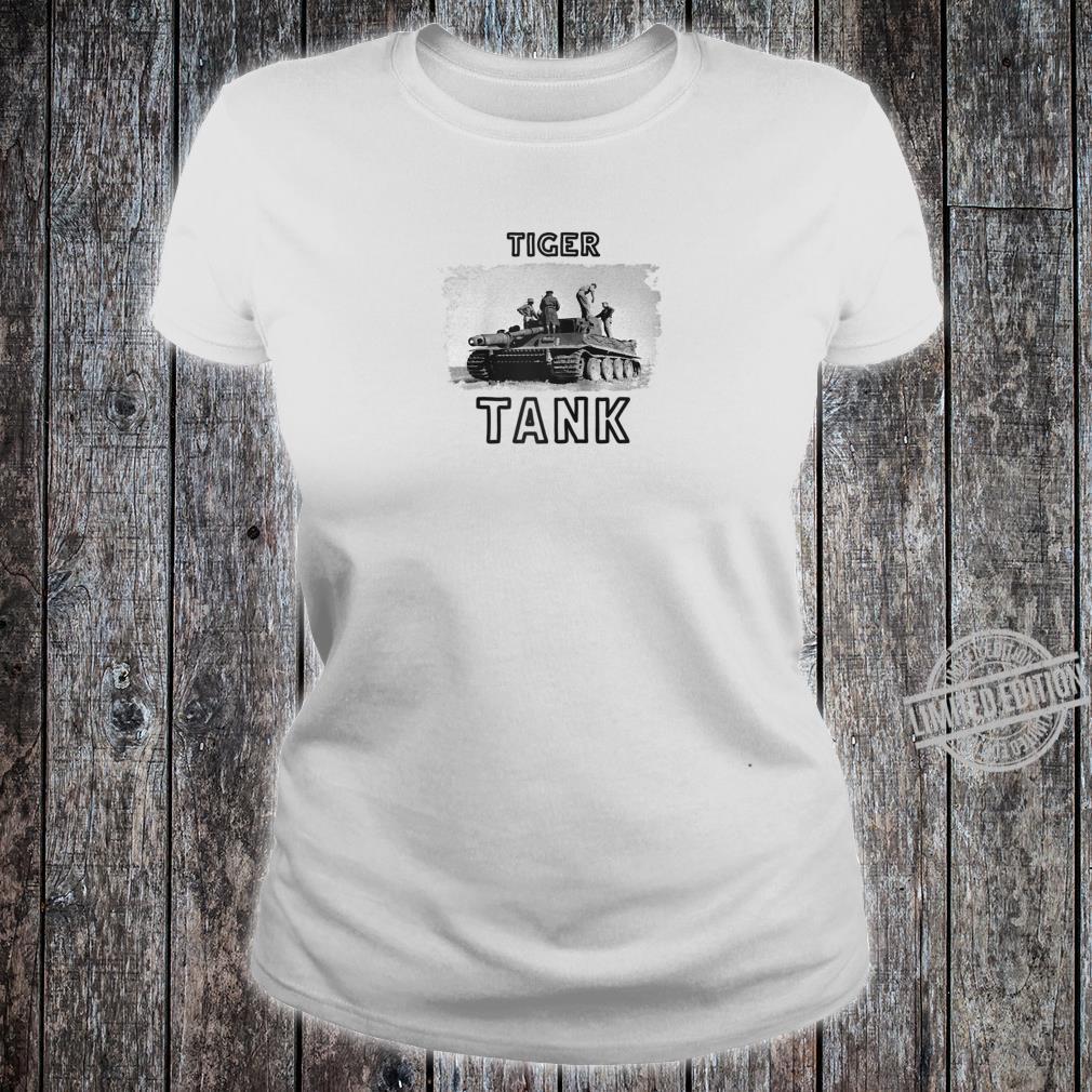 Tiger Tank Cool Historical World War 2 WW2 German Panzer Shirt ladies tee