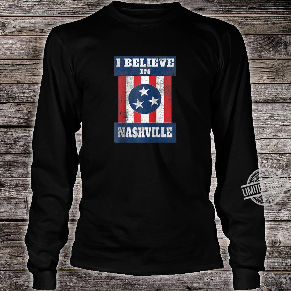 Tornado Nashville Strong I Believe In Tennessee Distressed Shirt long sleeved