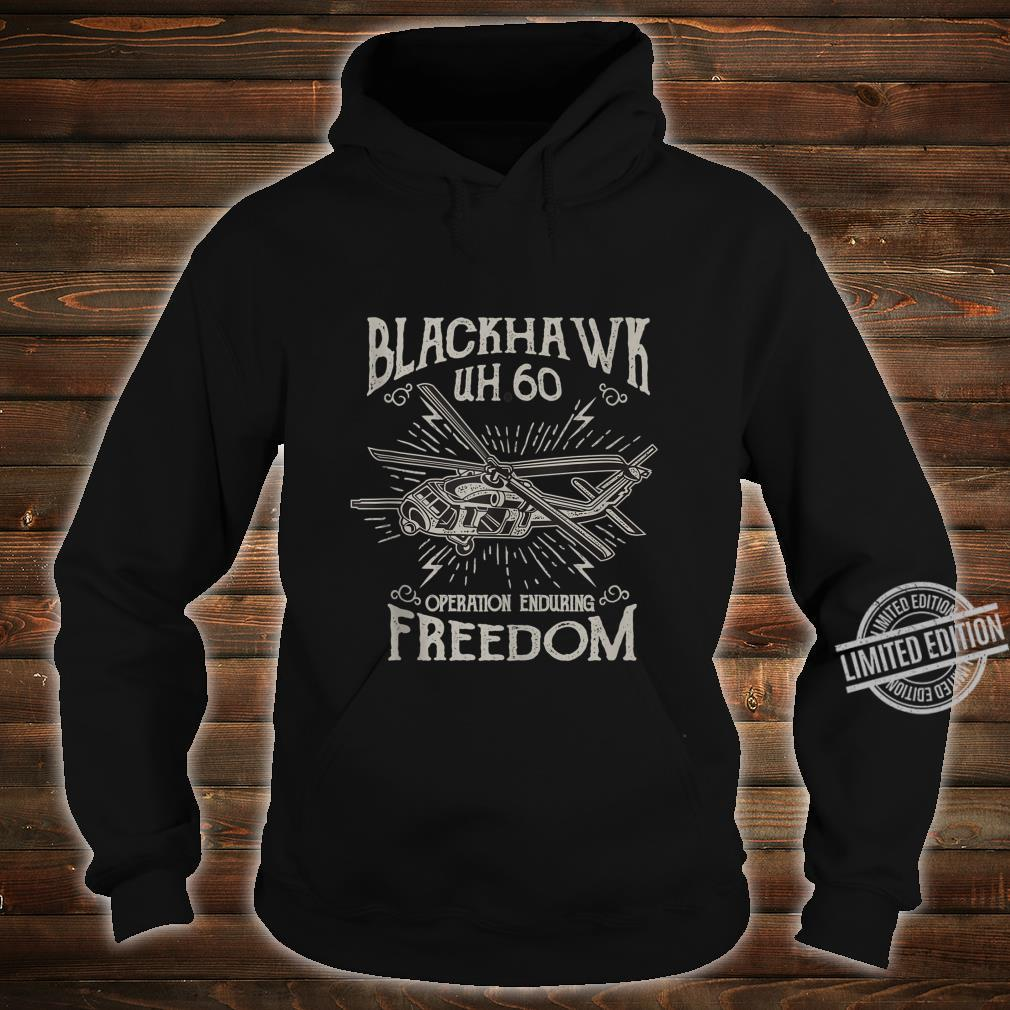 UH60 Blackhawk Military Helicopter Shirt hoodie