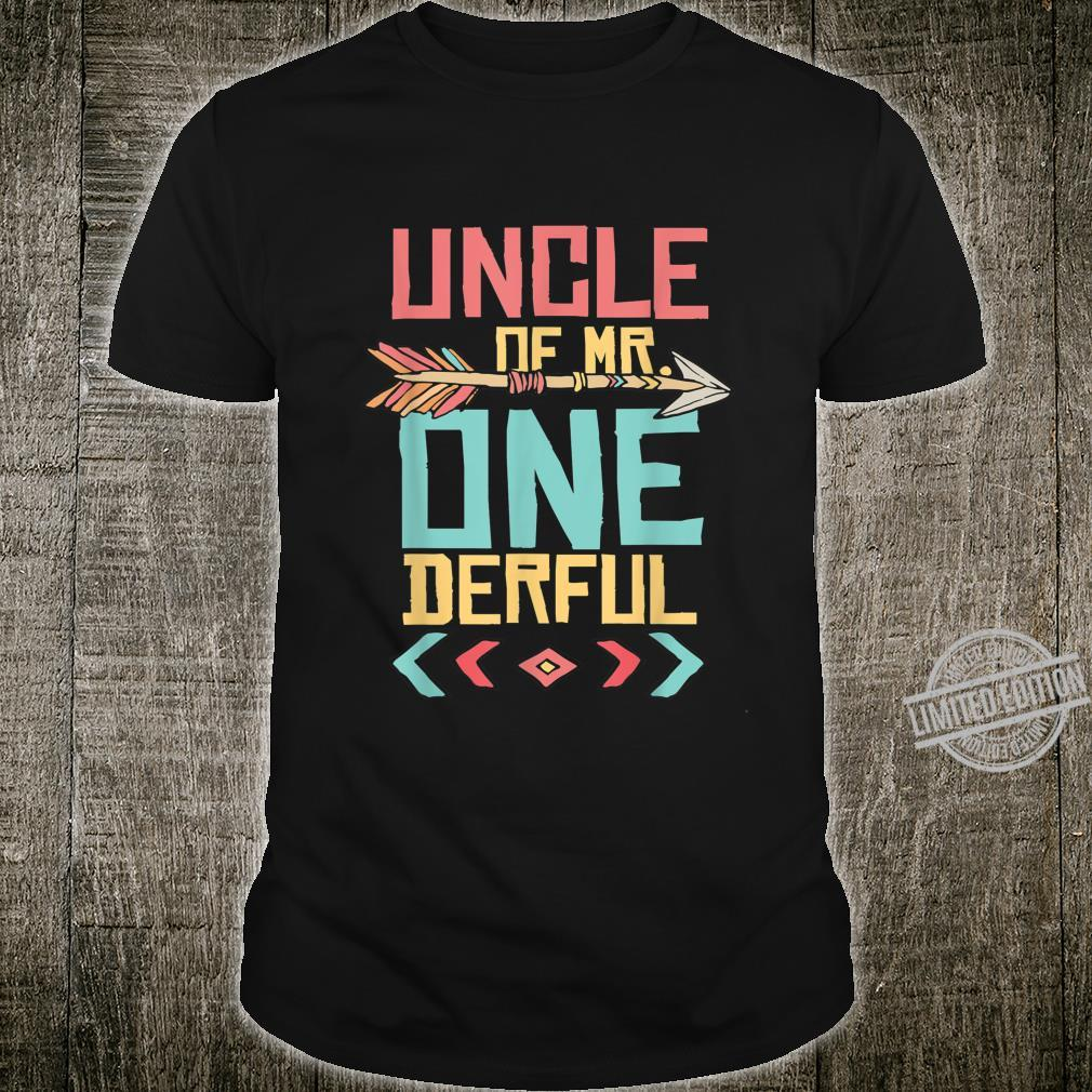 Uncle of the Mr. Onderful 1st Birthday Boy Boho Outfit Shirt