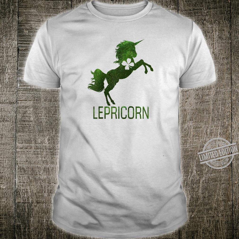 Unicorn St Patrick's Day Shirt Cute Lepricorn Girl Shirt