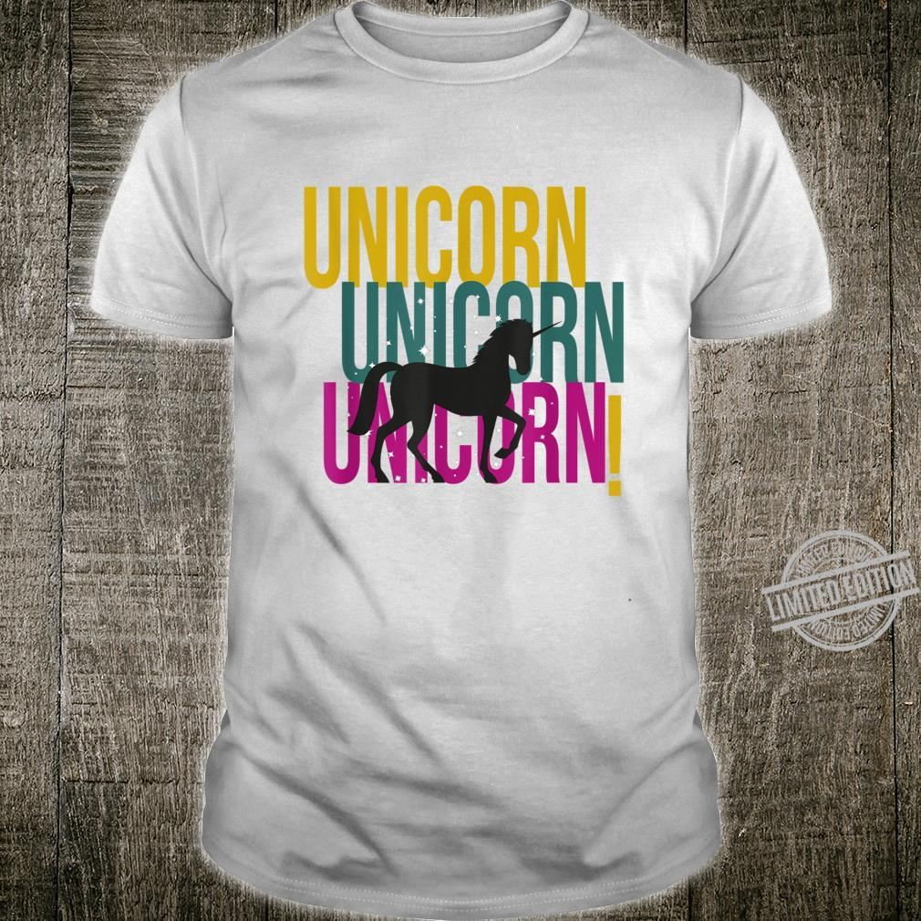 Unicorn Unicorns Unicorne Retro Colors Shirt