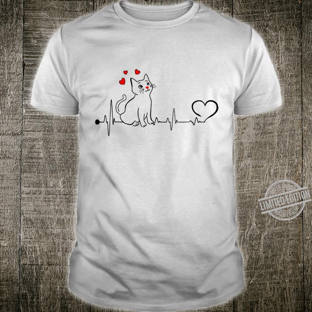 Valentine's Day Heart Beat Cats Shirt