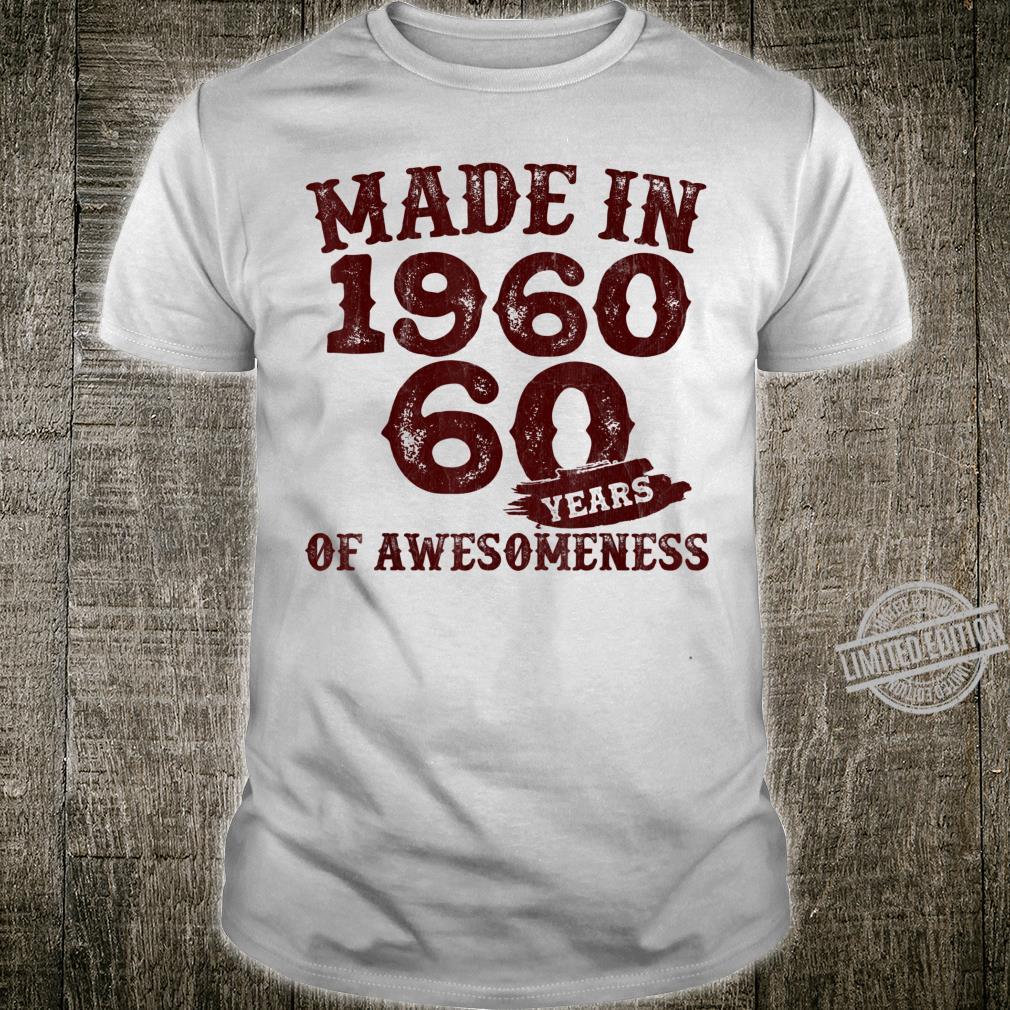 Vintage 1960 60th Birthday Retro 60 Years Old Shirt