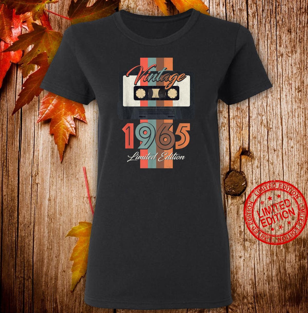 Vintage 1965 Limited Edition Gift 55th Birthday Shirt ladies tee
