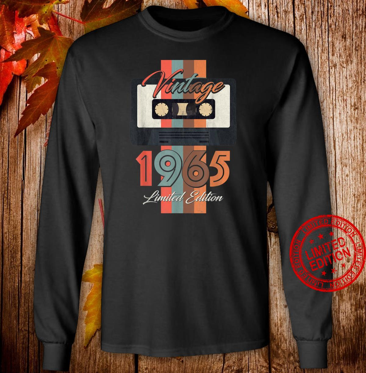 Vintage 1965 Limited Edition Gift 55th Birthday Shirt long sleeved