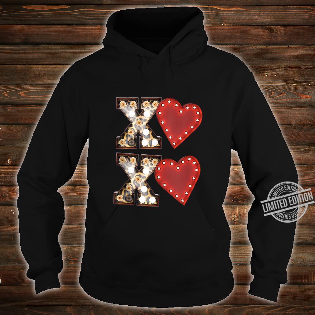 Vintage Hearts Cool Retro Valentines Day Shirt hoodie