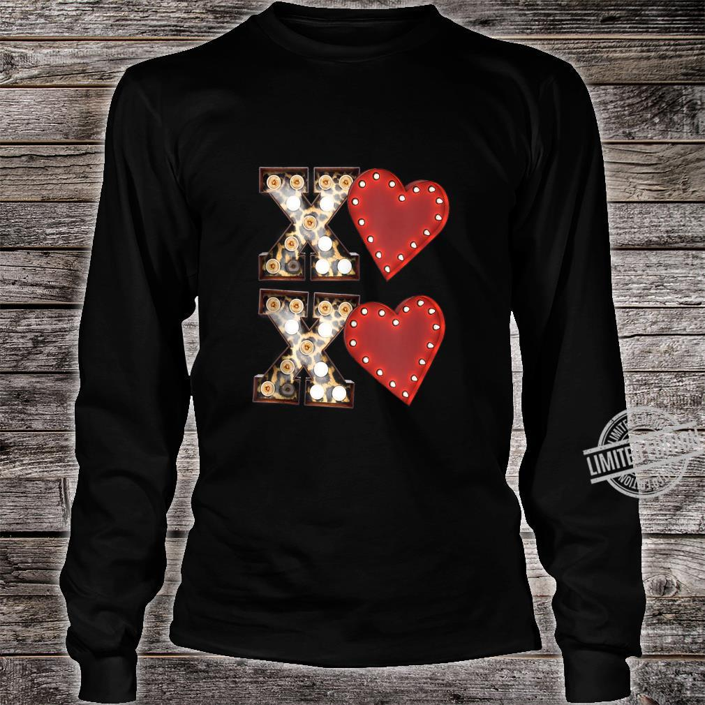 Vintage Hearts Cool Retro Valentines Day Shirt long sleeved