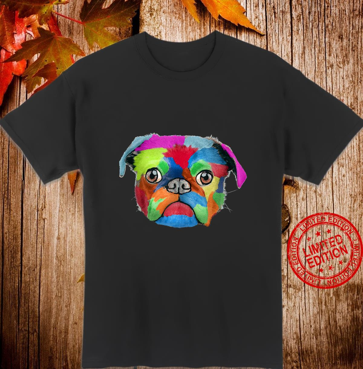 Vintage Pug Dog Colorful Art Shirt