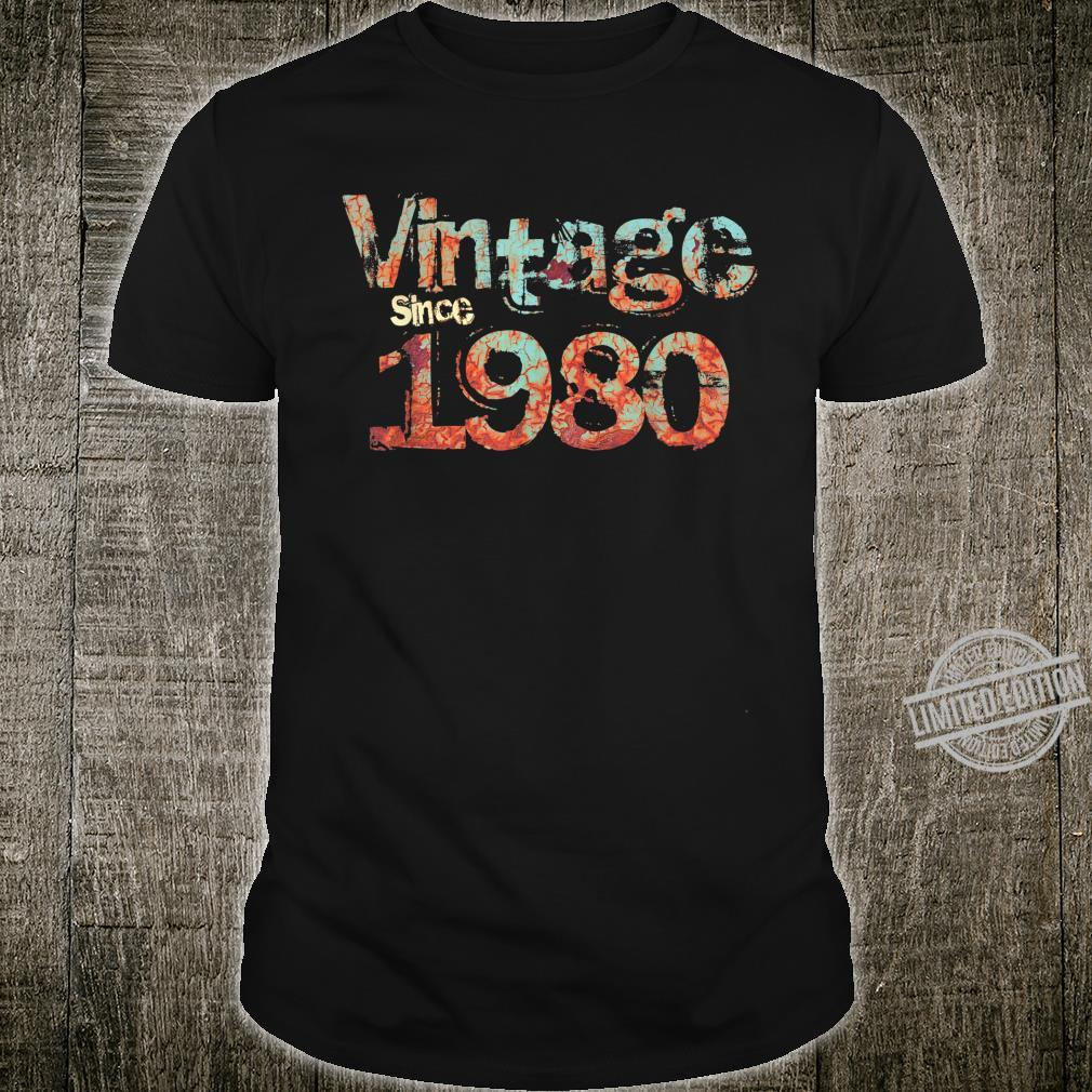 Vintage Since 1980 Rusted Edition Classic for 40th BD Shirt