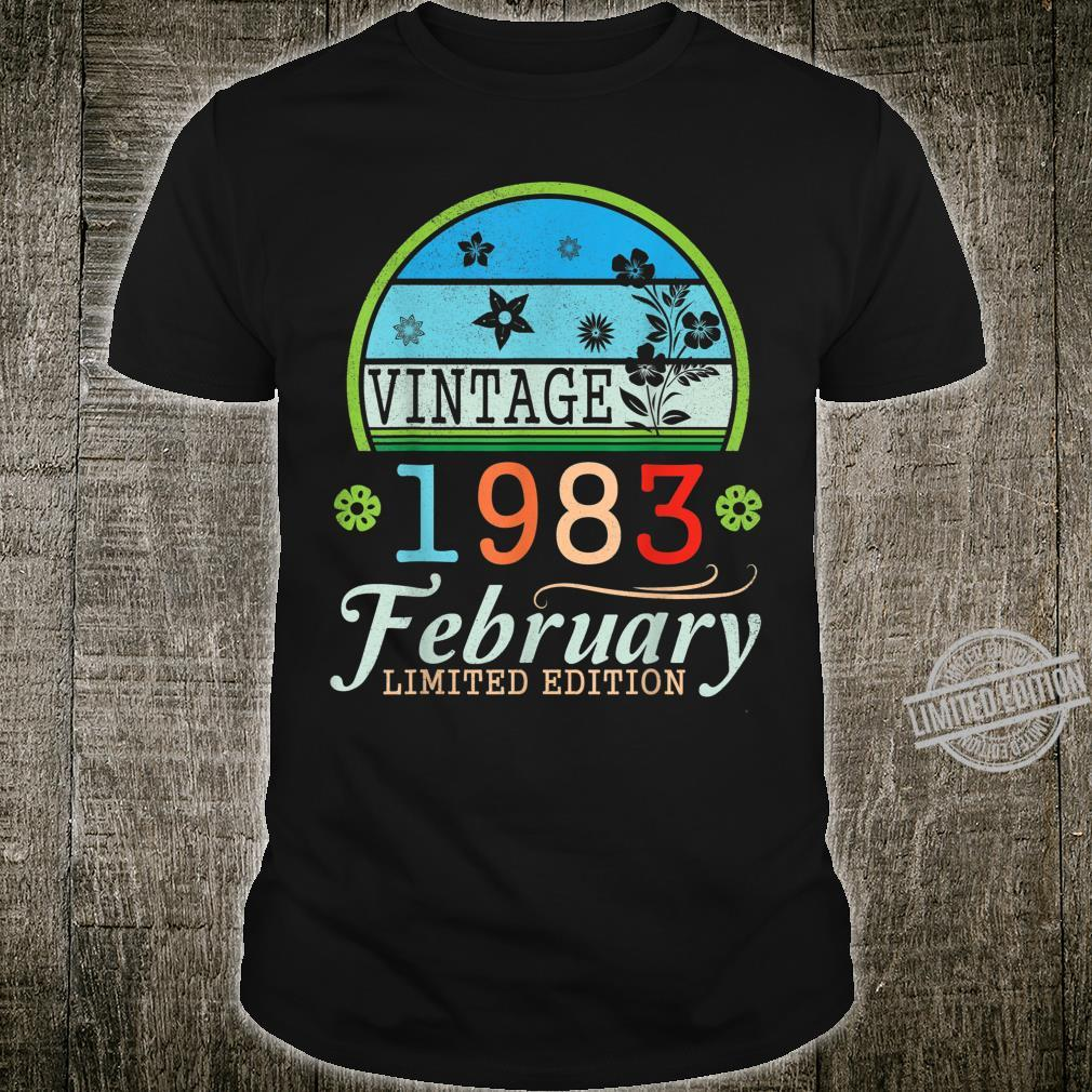 Vintage Spring 1983 February Limited Edition 37th Birthday Shirt