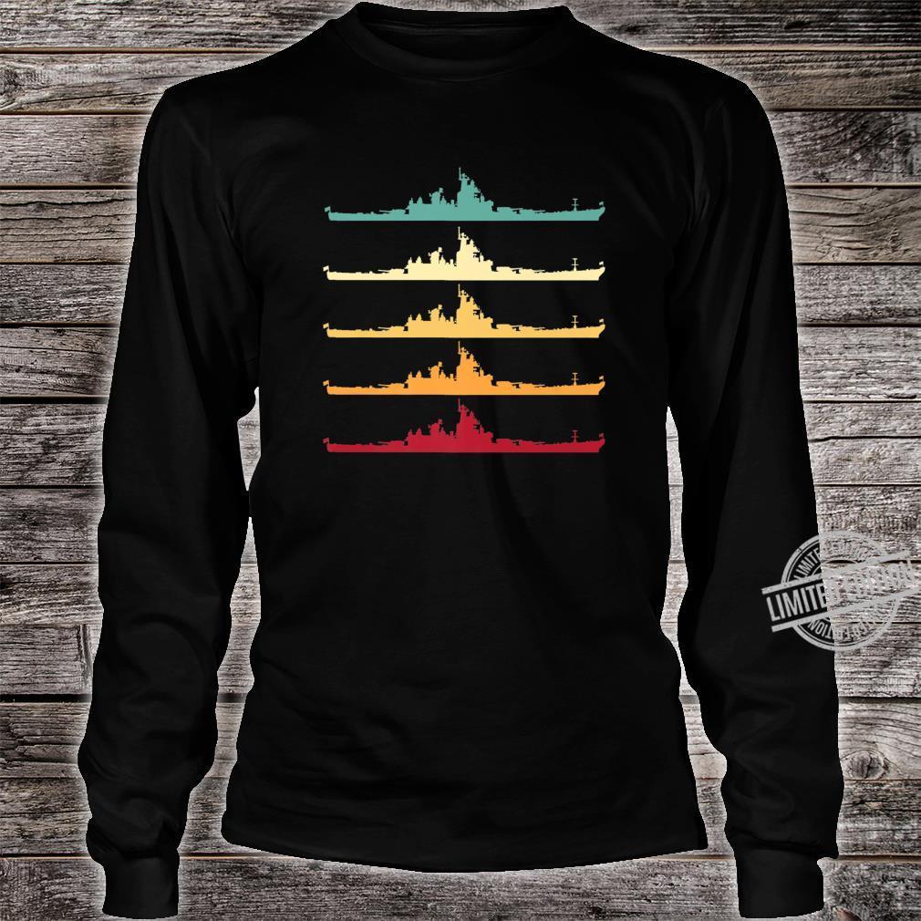 Vintage USS Wisconsin BB64 Battleship Shirt long sleeved