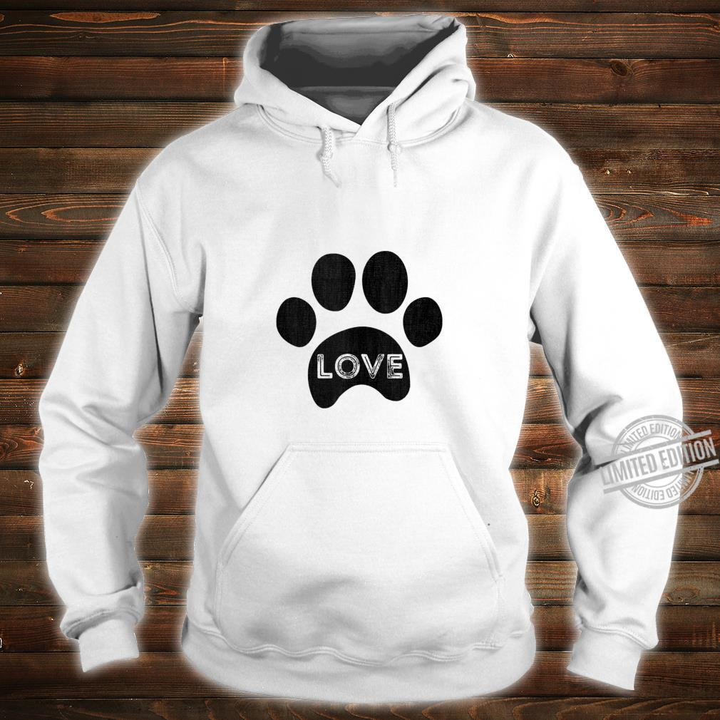 Vintage puppy dog paw, pet design, I Love dog Shirt hoodie