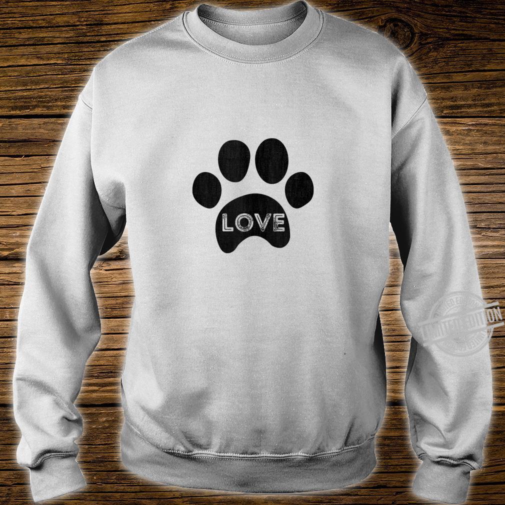 Vintage puppy dog paw, pet design, I Love dog Shirt sweater