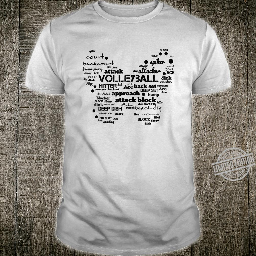 Volleyball Butterfly Word Cloud Volleyball Shirt