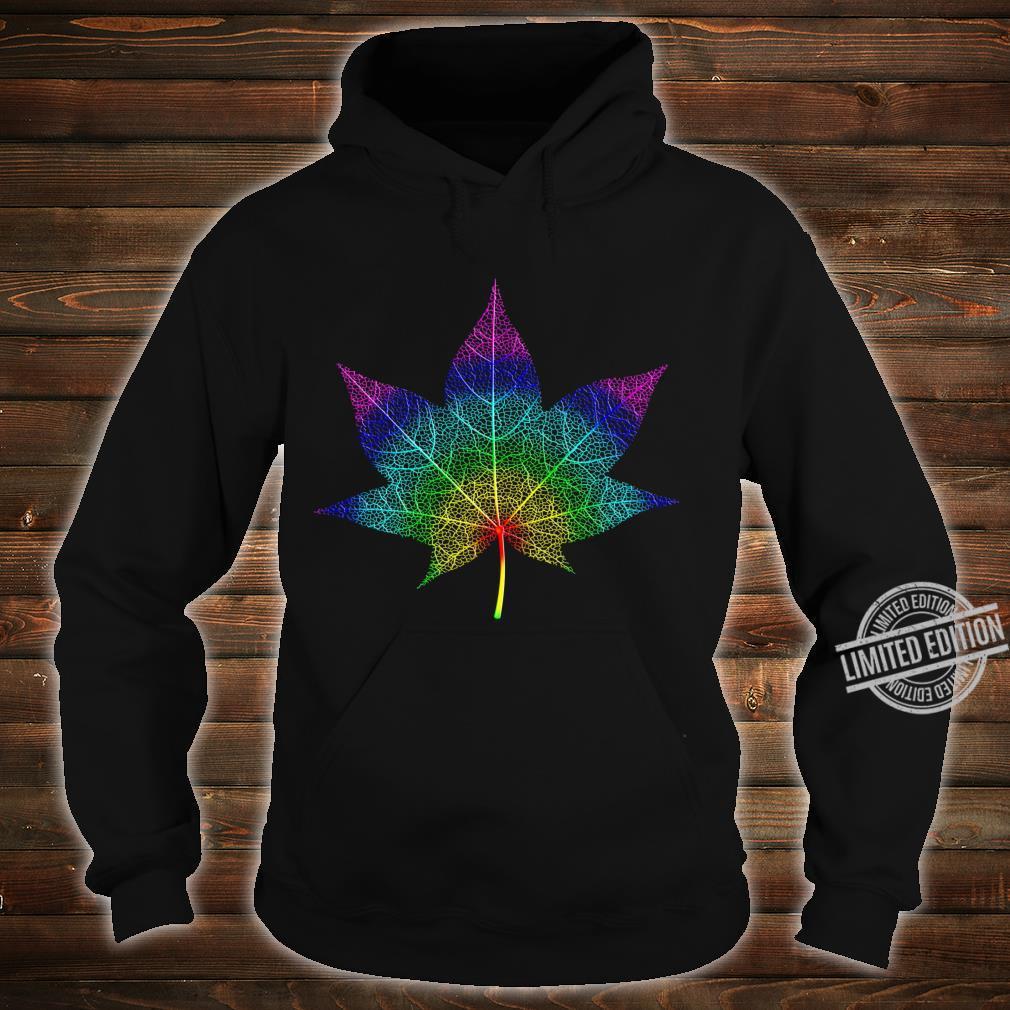 Watercolor Maple Leaf Pattern Silhouette Autumn Maple Langarmshirt Shirt hoodie