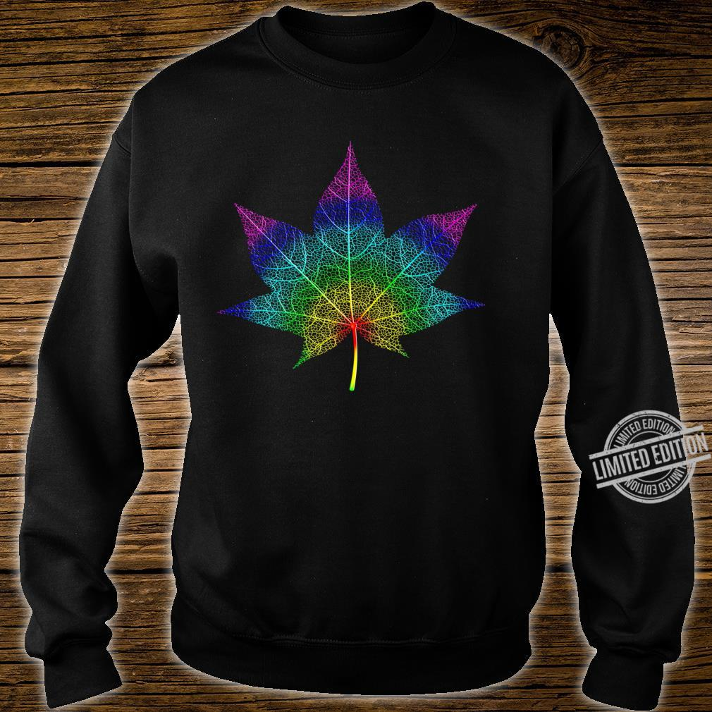 Watercolor Maple Leaf Pattern Silhouette Autumn Maple Langarmshirt Shirt sweater