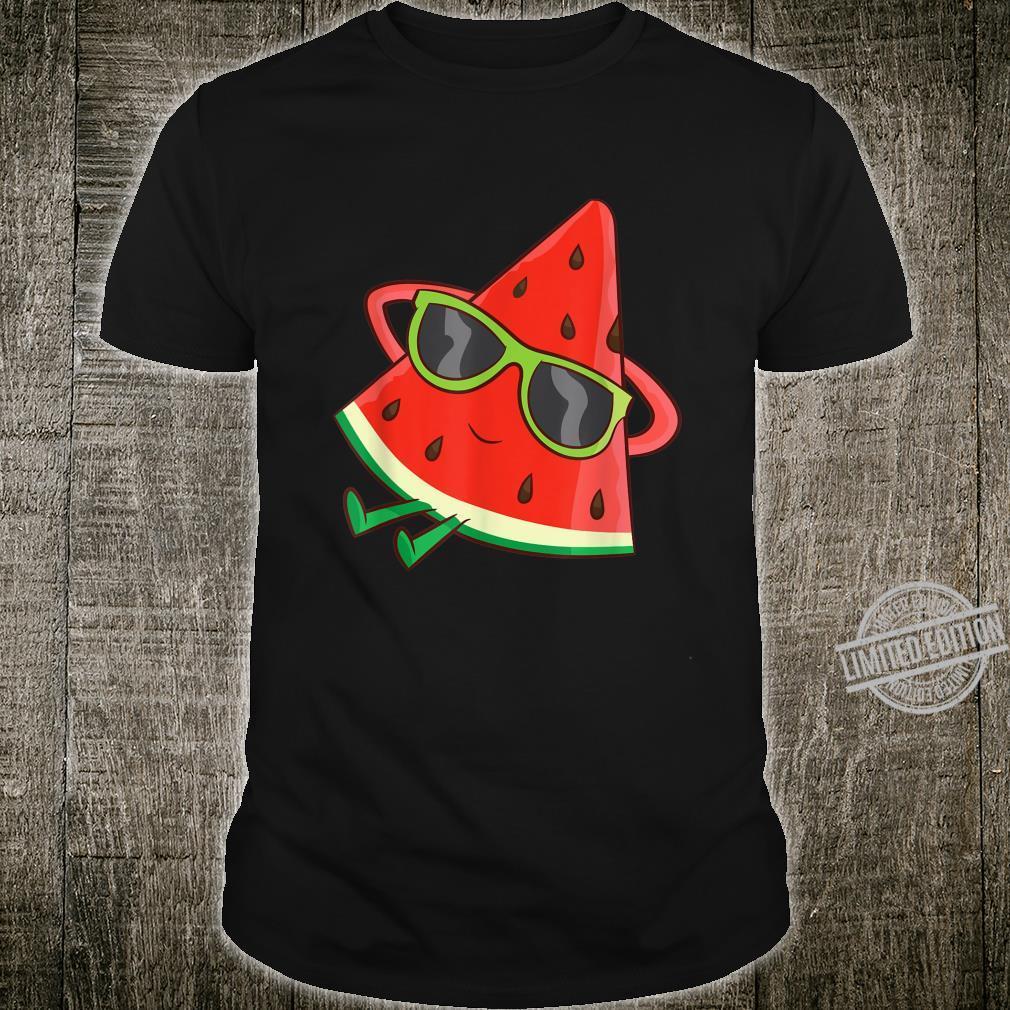 Watermelon Summer Melon With Sunglasses Watermelon Shirt