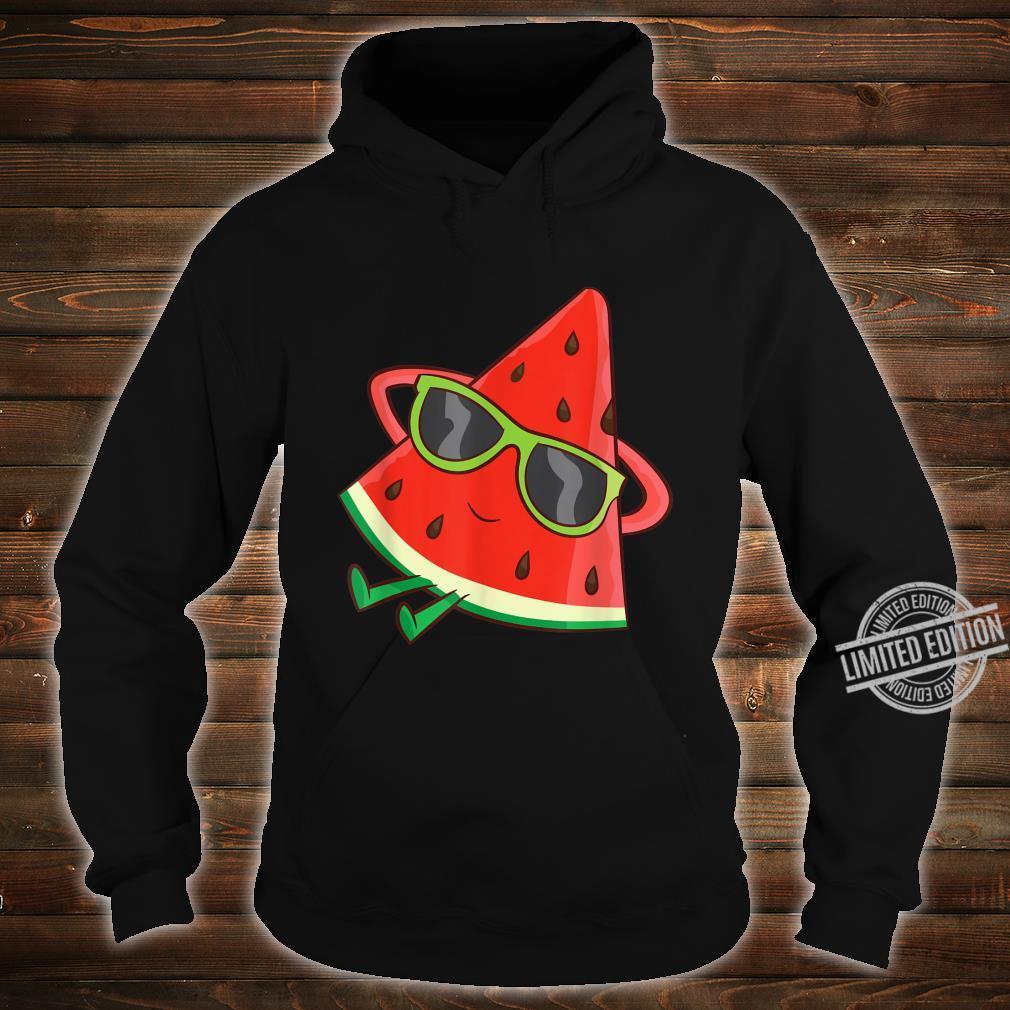 Watermelon Summer Melon With Sunglasses Watermelon Shirt hoodie