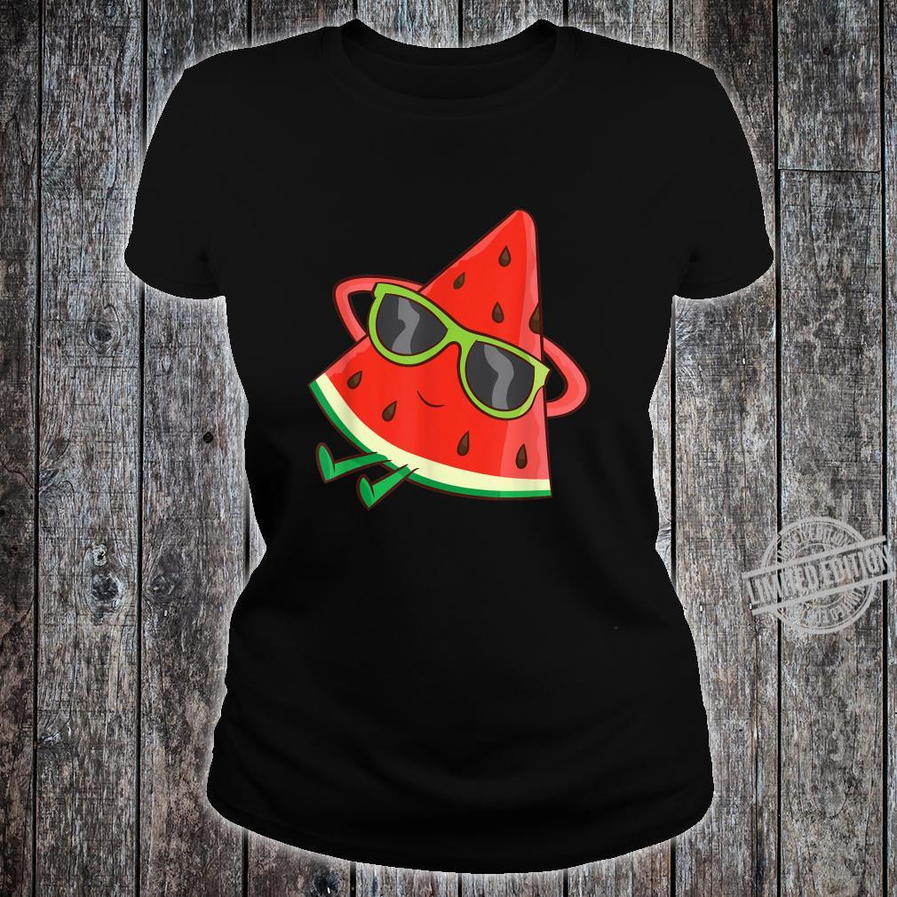 Watermelon Summer Melon With Sunglasses Watermelon Shirt ladies tee