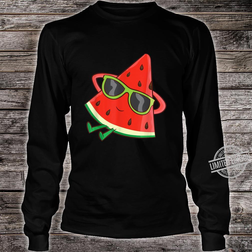 Watermelon Summer Melon With Sunglasses Watermelon Shirt long sleeved