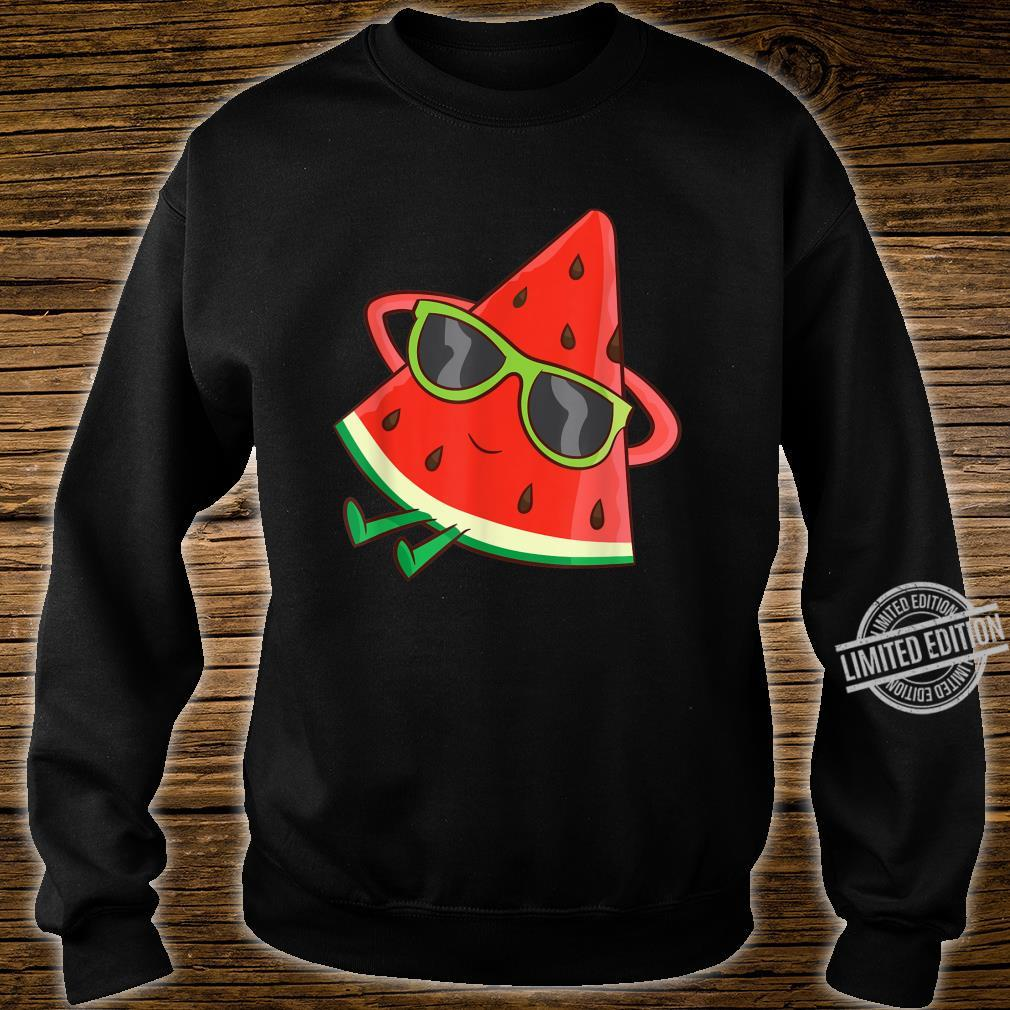 Watermelon Summer Melon With Sunglasses Watermelon Shirt sweater