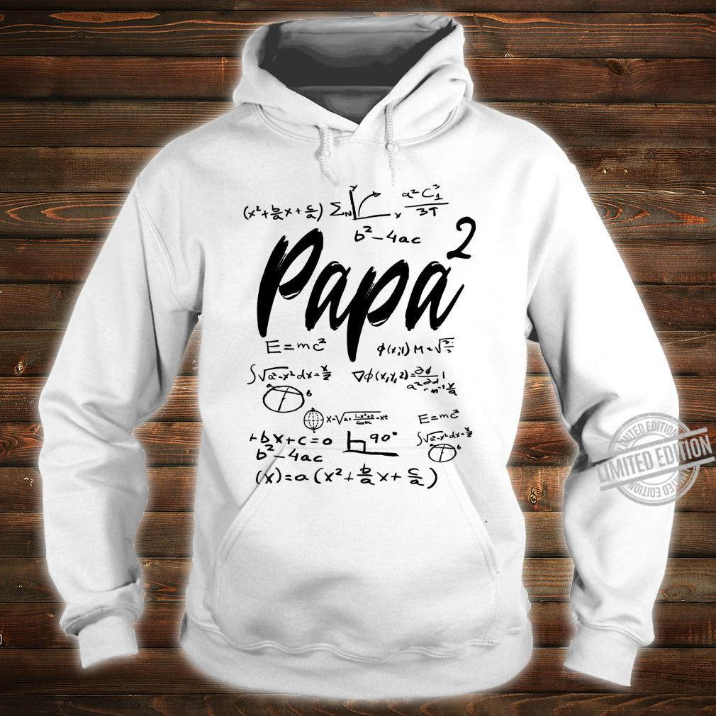 Werdender Vater zweifacher Papa hoch 2 Zwillinge Mathe Shirt hoodie
