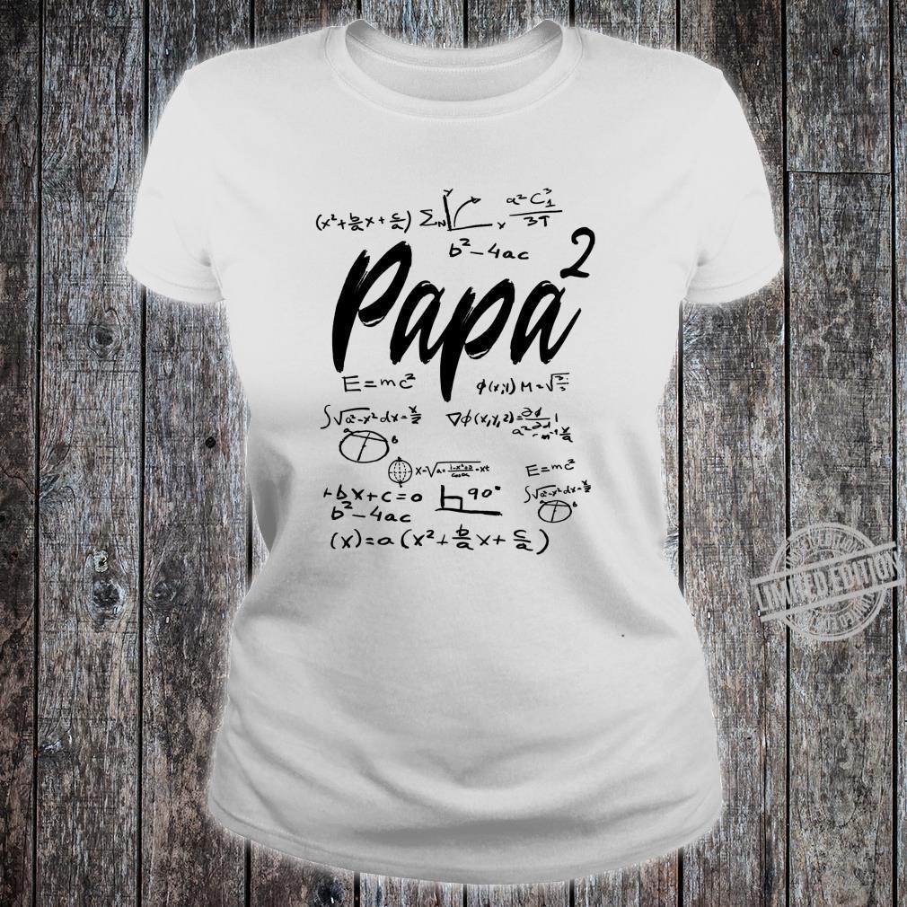 Werdender Vater zweifacher Papa hoch 2 Zwillinge Mathe Shirt ladies tee