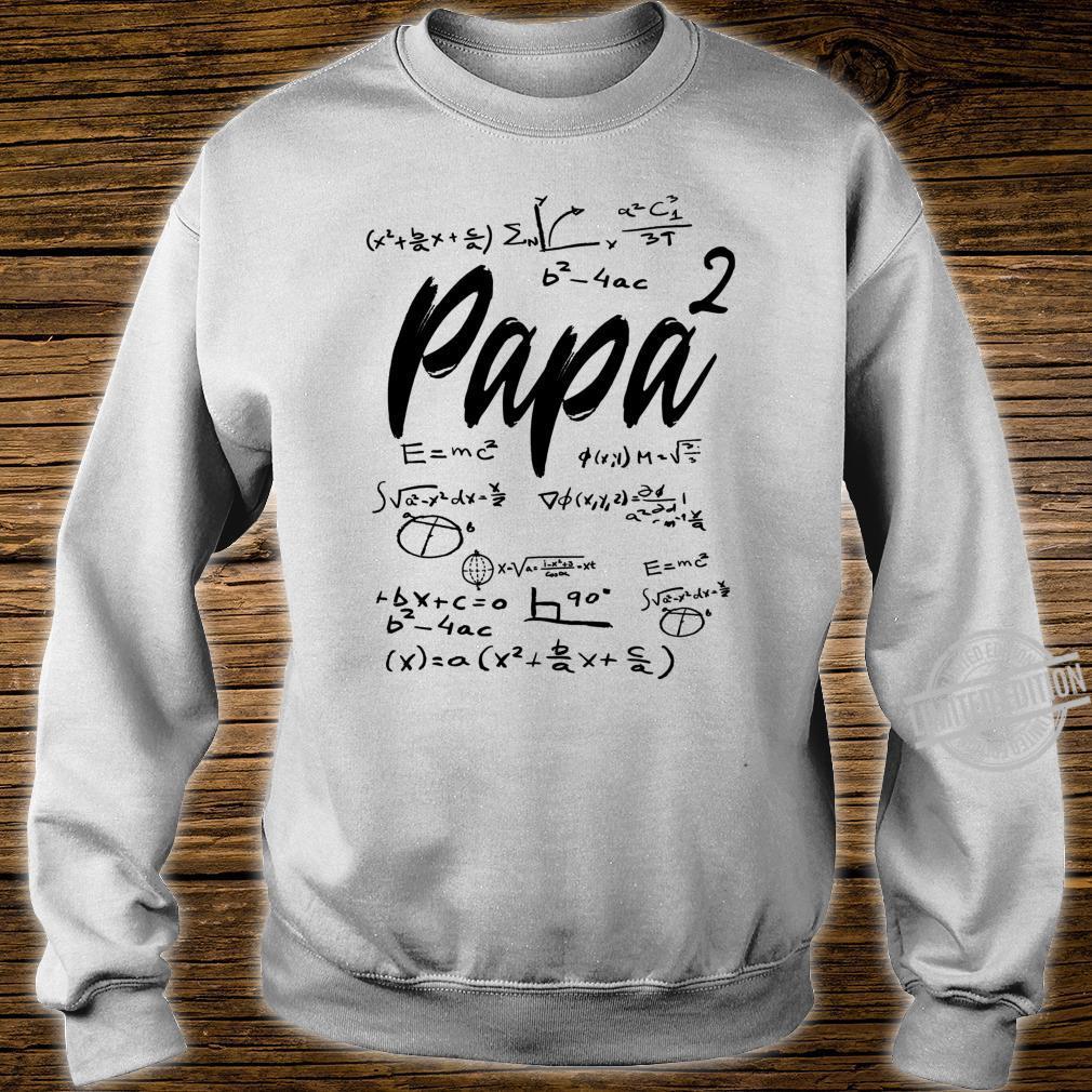 Werdender Vater zweifacher Papa hoch 2 Zwillinge Mathe Shirt sweater