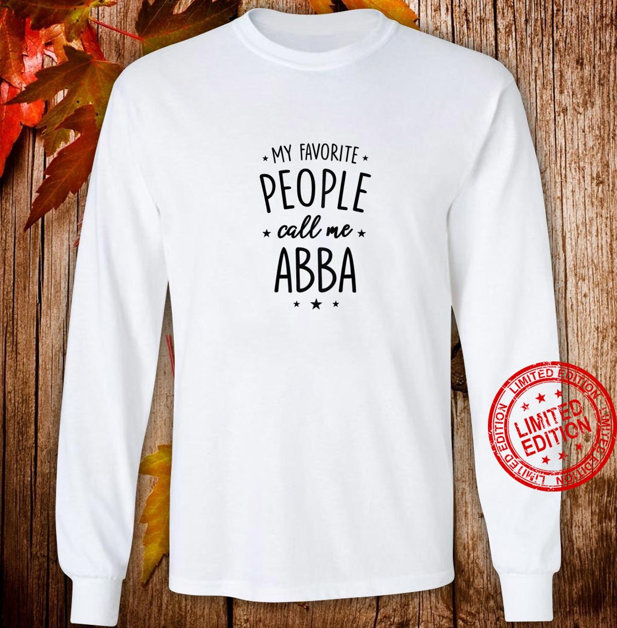 Womens Abba My Favorite People Call Me Abba Shirt long sleeved